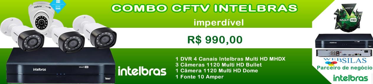 DVR Intelbras + 4 Cameras 1120
